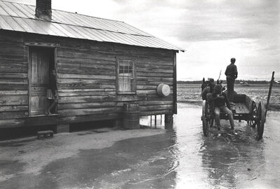 Constantine Manos, 'Untitled, Sharecroppers, South Carolina (puddle, house, horse drawn wagon)', 1965