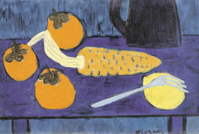 Gerhild Diesner, 'Still Life with Corn Cob, Lemon and Kaki'