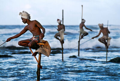 Steve McCurry, 'Stilt Fishermen', 2001
