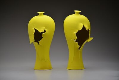 Steven Young Lee, 'Yellow Vase Pair', 2018