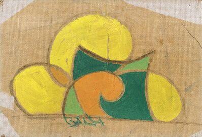 Giacomo Balla, 'Motivo floreale per ricamo', 1918 ca.