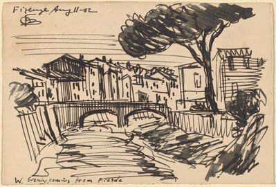 Oscar Bluemner, 'The Arno in the Evening, Florence', 1912
