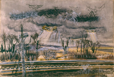 Charles Ephraim Burchfield, 'November Railroad-Mood', 1946