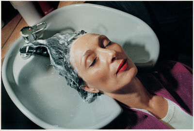 Elinor Carucci, 'Mother's Head in Sink', 1999