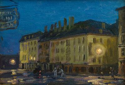 Everett Warner, 'South Street Nocturne', 1907