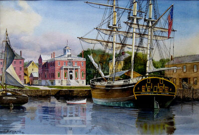 Frederick Kubitz, 'Friendship of Salem at Derby Wharf', ca. 2019