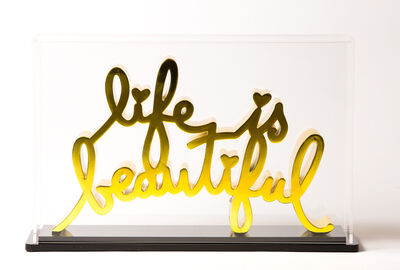 Mr.Brainwash, 'Life is beautiful - Hard Candy Yellow', 2020