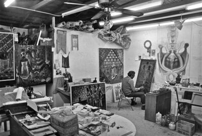 Earlie Hudnall, Jr., 'John Biggers in His Studio', 1986