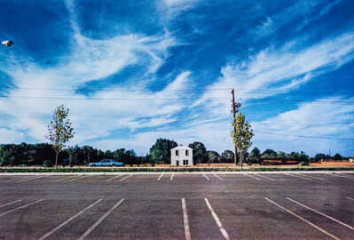 "William Eggleston, 'Untitled (White Building Across Parking Lot) from the Los Alamos (""Cousins"")', 1965-1974"