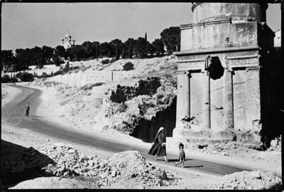Leonard Freed, 'Jerusalem, Russian Church and Absalom's Pillar', years 1960