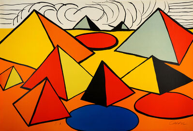 Alexander Calder, 'Composition with Pyramids, Circles and Clouds  ', 1970