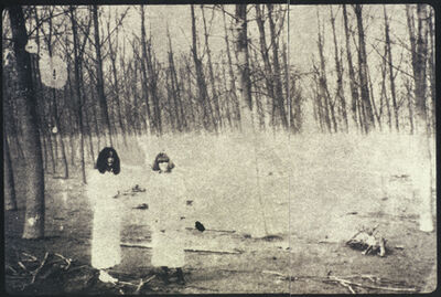 Deborah Turbeville, 'Women In The Woods: Isabella and Ella in Blumarine, VOGUE Italia, Montova, Italy', 1977