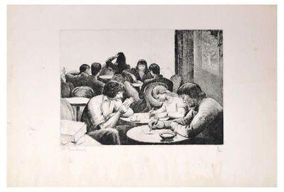 Etienne, 'Personnes Attablées au Café', Mid 20th century
