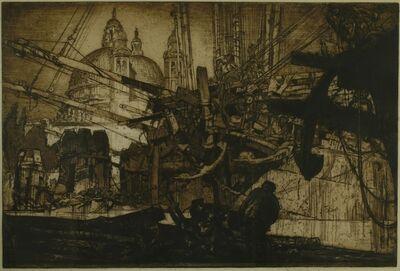 Sir Frank Brangwyn, 'Santa Maria dells Salute (Through the Rigging), Venice', 1908