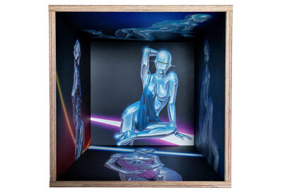 Hajime Sorayama, 'SQUARE SHELF SEXY ROBOT BY KARIMOKU', 2019
