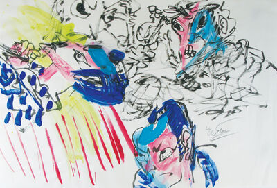 Ushio Shinohara 篠原 有司男, 'Action Ukiyo-E', 2009