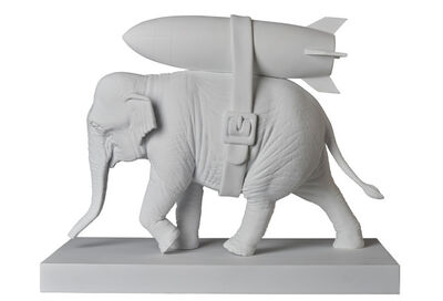Banksy, 'ELEPHANT WITH BOMB (WHITE', 2020