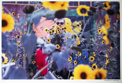 William John Kennedy, 'Andy Warhol in the field of flowers ', 1964