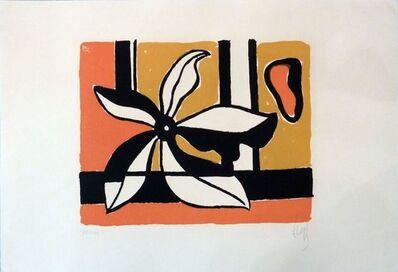 Fernand Léger, 'Fleur sur fond orange et jaune ', 1954