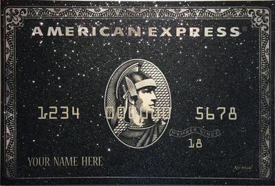 Kfir Moyal, 'Black American Express – Your Name Here / Customizable Artwork. ', 2017