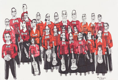 Kate Thompson, 'Orchestra (Red Shirts)', 2017