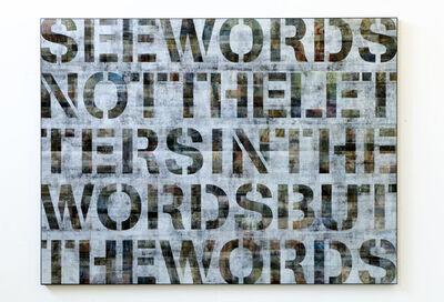Pascal Dombis, 'See words', 2018