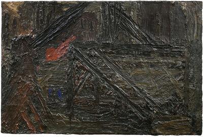 Frank Auerbach, 'Building Site near St Paul's: Winter', 1955