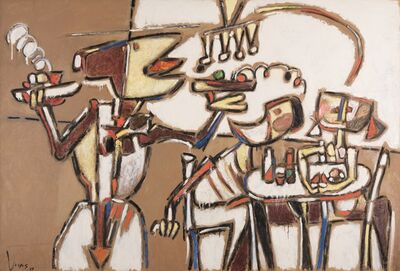 Oswaldo Vigas, 'Cafe de la Paix', 1995
