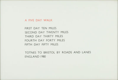 Richard Long, 'A FIVE DAY WALK', 1980