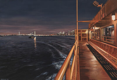 Richard Estes, 'Staten Island Ferry Arriving with a Distant View of Manhattan and New Jersey', 2011