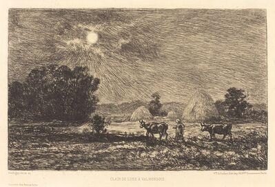 Charles François Daubigny, 'Moonlight at Valmondois (Clair de lune a Valmondois)', 1877