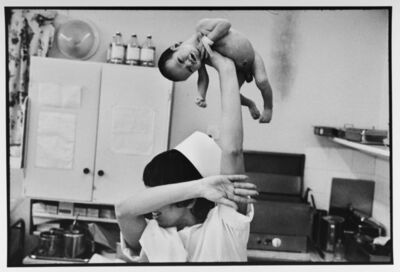 Leonard Freed, 'Pediatric nurse in the maternity ward, Israel', 1973