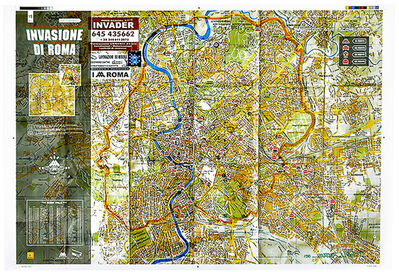 Invader, 'INVASION DI ROMA MAP SCREENPRINT ((Invasion Of Rome)', 2010