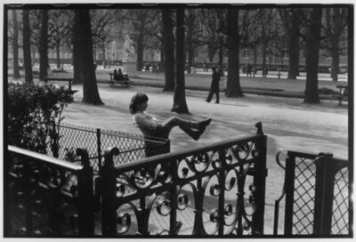 Leonard Freed, 'Woman in trash can, Paris, France', 1985