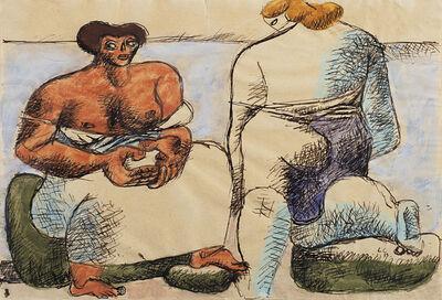Le Corbusier, 'Deux femmes nues assises sur des rochers en bord de mer', 1933