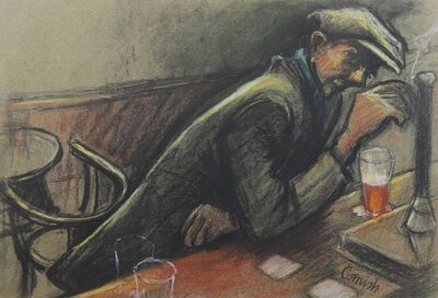 Norman Cornish, 'Man at bar iii', ca. 1970