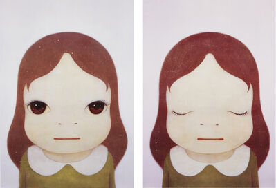 Yoshitomo Nara, 'Cosmic Girl: Eyes Open/ Eyes Closed', 2008