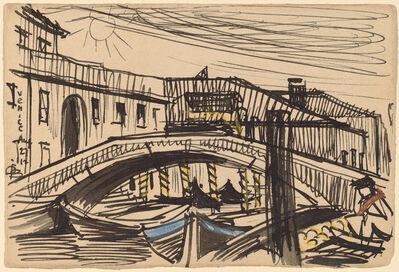 Oscar Bluemner, 'Venice, Boats', 1912