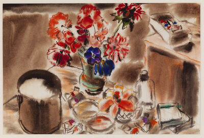David Milne (1882-1953), 'Pail of Water (Flowers and Brushes III)', ca. 1946