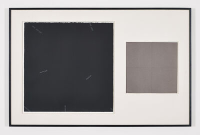 Robert Barry, 'Untitled (diptych)', 1965-1995