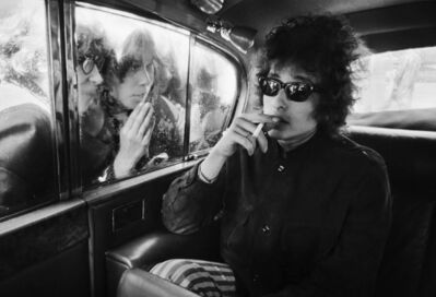 Barry Feinstein, 'Bob Dylan, Fans Looking In Limo, London, England', 1966