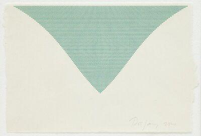 Tess Jaray RA, 'Untitled (Green Triangle)', 2010