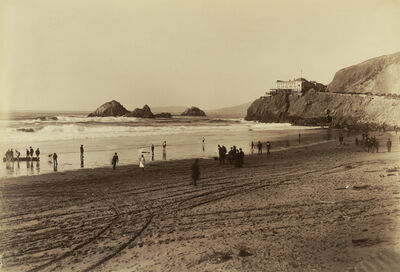 Carleton E. Watkins, 'The Cliff House, San Francisco', 1879-1880