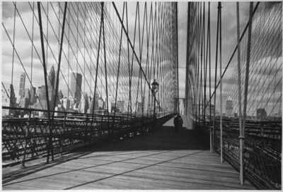 Inge Morath, 'Brooklyn Bridge, Downtown, New York City', 1961