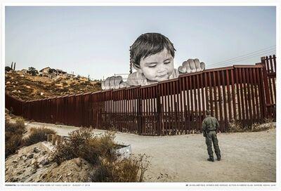 JR, 'Giants, Kikito and the border patrol, Tecate, Mexico-USA', 2018