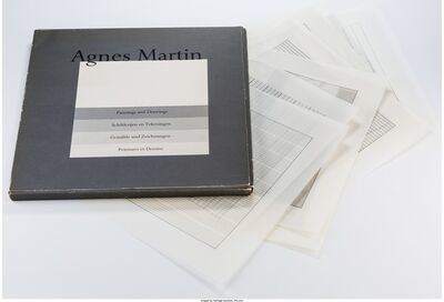 Agnes Martin, 'Paintings and Drawings (suite of 10)', 1991