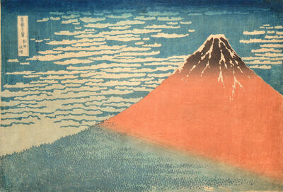 Katsushika Hokusai, 'Fine Wind, Clear Weather  (aka Red Fuji)', ca. 1831-1832