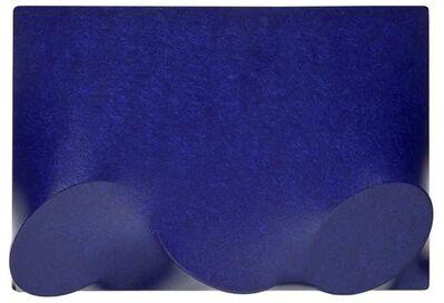Turi Simeti, 'Tre ovali blu', 2007