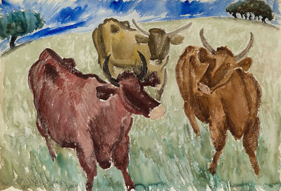 Milton Avery, 'Untitled (Three Cows)', ca. 1930