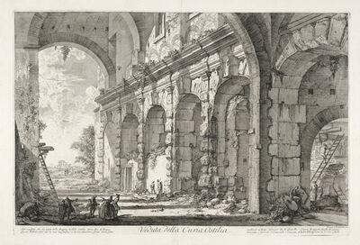 Giovanni Battista Piranesi, 'Veduta della Curia Ostilia', 1750-1751